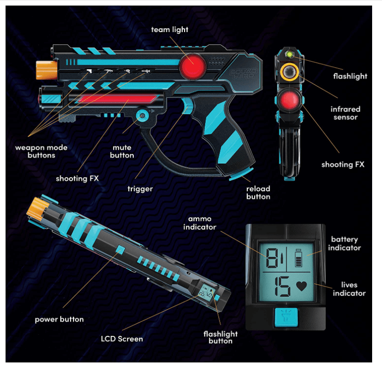 Squad Hero Rechargeable Laser Tag Set Guide